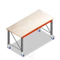 Enkellaags Werkbank, Werktafel op Wielen zonder voorgemonteerde frames