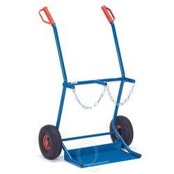 Gasflessenwagen 100 kg voor 2 gasflessen a 20 liter met rubberbanden