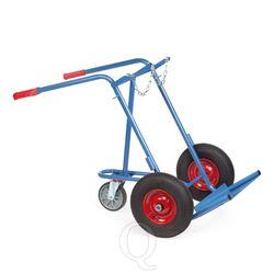 Gasflessenwagen 150 kg voor 2 gasflessen a 40/50 liter met luchtbanden en 1 steunwiel