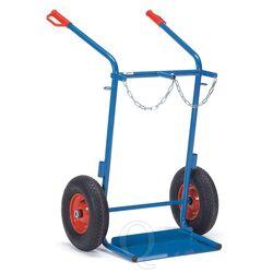 Gasflessenwagen 150 kg voor 2 gasflessen a 40/50 liter met rubberbanden