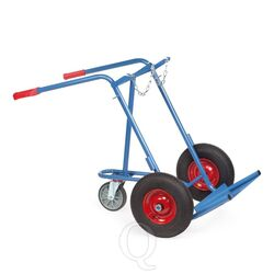Gasflessenwagen 150 kg voor 2 gasflessen a 40/50 liter met rubberbanden en 1 steunwiel