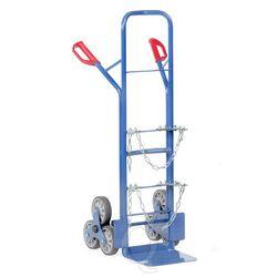 Gasflessenwagen, gasflessen trappensteekwagen 200 kg voor gasflessen en propaangasflessen met rubberbanden