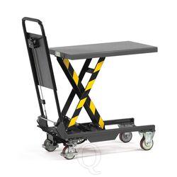 Heftafel, hefwagen 150 kg 700x450 mm (lxb) met inklapbare duwbeugel