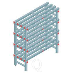 Kunststof stelling, rek 1150x1000x400, 4 niveaus