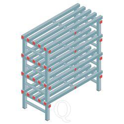 Kunststof stelling, rek 1150x1000x500, 4 niveaus