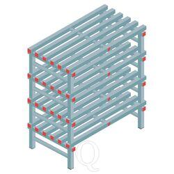 Kunststof stelling, rek 1150x1000x600, 4 niveaus