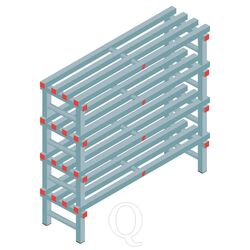 Kunststof stelling, rek 1150x1200x400, 4 niveaus