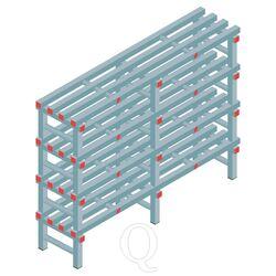 Kunststof stelling, rek 1150x1500x400, 4 niveaus