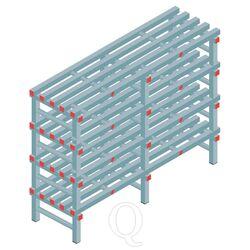 Kunststof stelling, rek 1150x1500x500, 4 niveaus