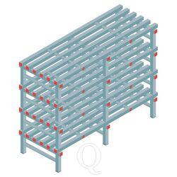 Kunststof stelling, rek 1150x1500x600, 4 niveaus