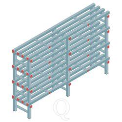 Kunststof stelling, rek 1150x1800x400, 4 niveaus