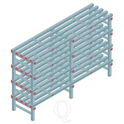 Kunststof stelling, rek 1150x1800x500, 4 niveaus