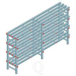 Kunststof stelling, rek 1150x2000x400, 4 niveaus