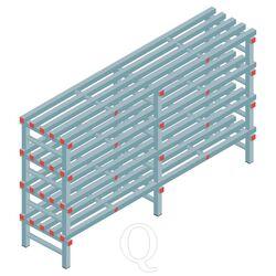 Kunststof stelling, rek 1150x2000x500, 4 niveaus