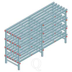 Kunststof stelling, rek 1150x2000x600, 4 niveaus