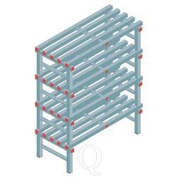 Kunststof stelling, rek 1300x1000x500, 4 niveaus