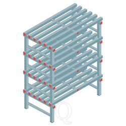 Kunststof stelling, rek 1300x1000x600, 4 niveaus