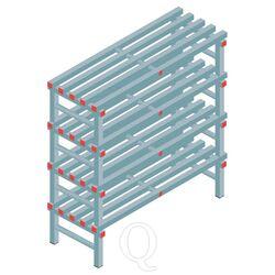Kunststof stelling, rek 1300x1200x500, 4 niveaus
