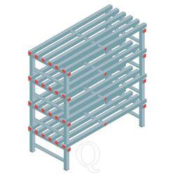 Kunststof stelling, rek 1300x1200x600, 4 niveaus