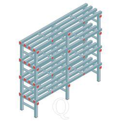 Kunststof stelling, rek 1300x1500x400, 4 niveaus