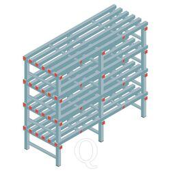 Kunststof stelling, rek 1300x1500x600, 4 niveaus