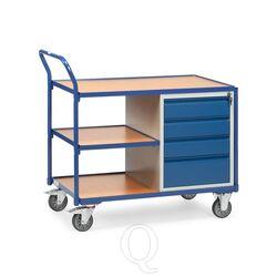 Lichte werkplaatswagen 300 kg met 4 schuifladen en 3 laadvlakken 1000x600 mm