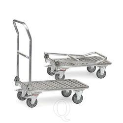 Inklapbare aluminium plateauwagen 200 kg met duwbeugel 720x450