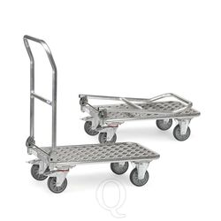 Inklapbare aluminium plateauwagen 200 kg met duwbeugel 900x600