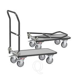 Inklapbare plateauwagen, magazijnwagen 250 kg 900x600 antraciet