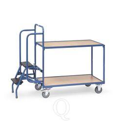 Orderverzamelwagen met 2 laadvlakken en trap