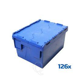 Palletaanbieding 126 Begra distributiebakken, transportbakken 400x300x225 blauw