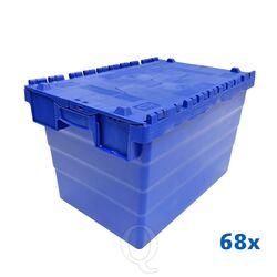 Palletaanbieding 68 distributiekratten transportkratten 600x400x365 blauw