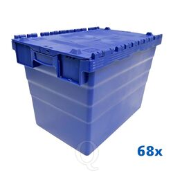 Palletaanbieding 68 distributiekratten transportkratten 600x400x416 blauw