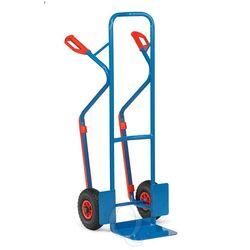 Stalen steekwagen 300 kg 1300 mm met rubberbanden en glijstrips