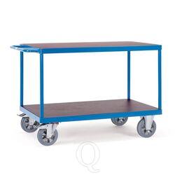 Tafelwagen, zwaarlastwagen 1200 kg 1000x700 met 2 houten etages