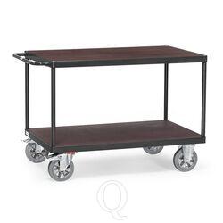Tafelwagen, zwaarlastwagen 1200 kg 1200x800 met 2 houten etages antraciet