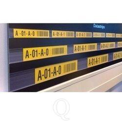 Transparante datastrip 75 mm met dubbelzijdige tape