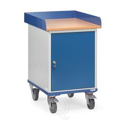 Verrijdbare kast 150 kg 650x550 met opstaande rand en afsluitbare kast
