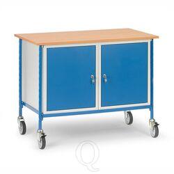 Verrijdbare tafel 150 kg 1120x650 met 2 afsluitbare kasten