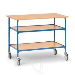 Verrijdbare tafel 150 kg 1120x650 met 3 houten etages