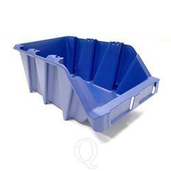 Voordeelverpakking 20 stapelbare en nestbare kunststof magazijnbakken type S6, 420x265x177 blauw