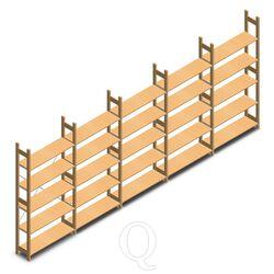Voordeelrii houten legbordstelling bt euro 2100x5030x300