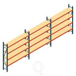 Voordeelrij grootvakstelling AR 2000x5790x400mm (hxbxd) - 4 niveaus