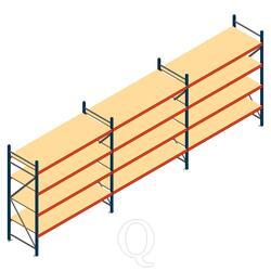 Voordeelrij grootvakstelling AR 2000x5790x800mm (hxbxd) - 4 niveaus