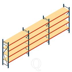 Voordeelrij grootvakstelling AR 2000x6990x600mm (hxbxd) - 4 niveaus