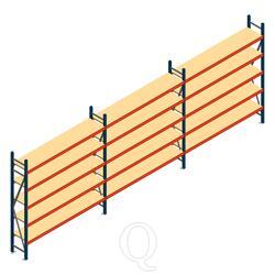 Voordeelrij grootvakstelling AR 2500x5790x400mm (hxbxd) - 5 niveaus
