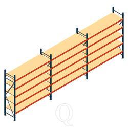 Voordeelrij grootvakstelling AR 2500x5790x600mm (hxbxd) - 5 niveaus