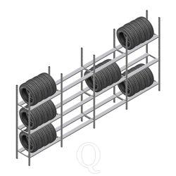 Voordeelrij bandenstelling Medium Duty 2000x4000x600 4 secties 3 niveaus