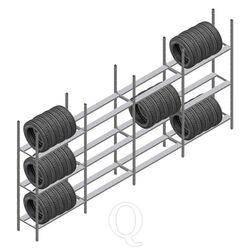 Voordeelrij bandenstelling Medium Duty 2200x4000x600 4 secties 3 niveaus