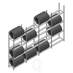 Voordeelrij bandenstelling Medium Duty 2500x4000x600 4 secties 4 niveaus